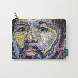 Manny Pacquiao portrait painting prints Carry-All Pouch