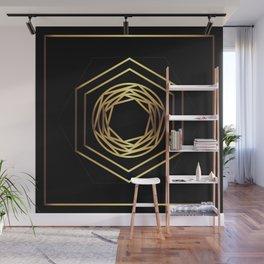 Golden geometry Wall Mural
