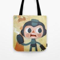 megaman Tote Bags featuring Megaman by Peerro