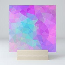 Polygon_Holographic Rainbow 04 Mini Art Print
