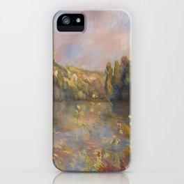 Lakeside Landscape by Renoir iPhone Case