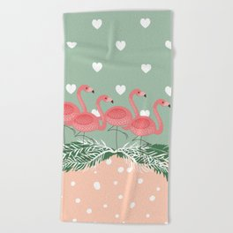 Heart flaming Beach Towel