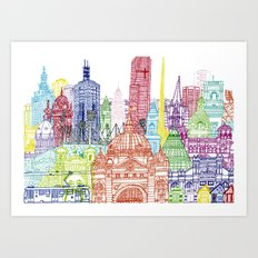 Melbourne Towers Art Print