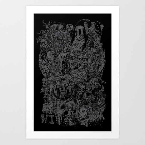 Lost Sketches Art Print