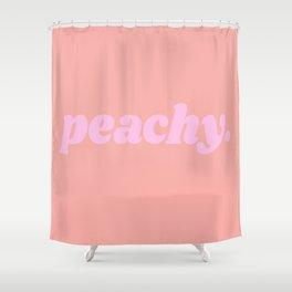 peachy. Shower Curtain