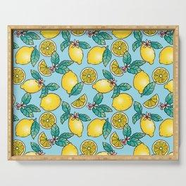Tropical Vibe Lemon Pattern Serving Tray