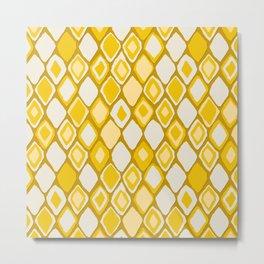 Almas diamond ikat gold Metal Print