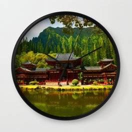 Temple Valley Temple ... By LadyShalene Wall Clock