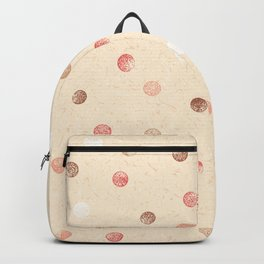 Modern retro polka dots painting on pastel background illustration pattern Backpack