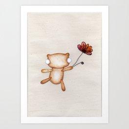 Loves Me, Loves Me Not, Loves Me! - Zombie Bear Art Print