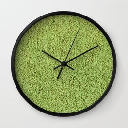 Retro Green Shag Pile Carpet Wall Clock