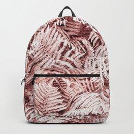 Fern Bush Blush Pink | Bedroom Art Backpack