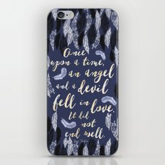 Daughter of Smoke and Bone quote design iPhone & iPod Skin