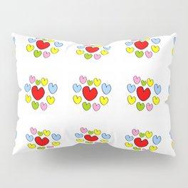 heart 3-heart,love,romantism,girl,sweet, women,romantic,cute,beauty,multicolor Pillow Sham