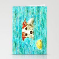 jack russell Stationery Cards featuring Jack Russell Terrier by gretzky