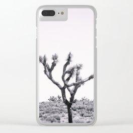 Joshua Tree Monochrome, No. 2 Clear iPhone Case