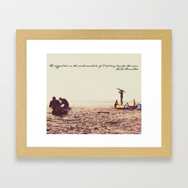Surf Junkies Framed Art Print
