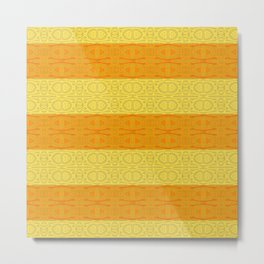 Neotribal Golden Orange Stripes Metal Print