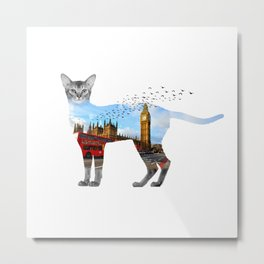 London cat Metal Print