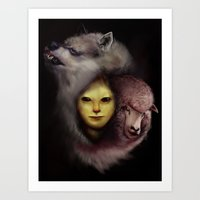 the lamb and the wolf Art Print