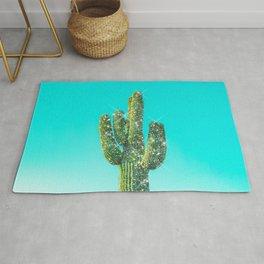 Glitter Sparkles Summer Cactus  Rug