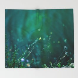 Fairy Tail - Flower on the Water - Magic Grass Throw Blanket