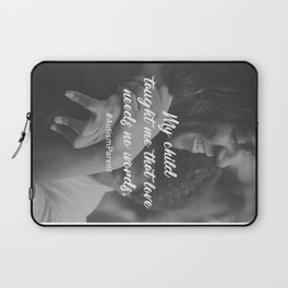 Love Needs No Words Support Autism Laptop Sleeve