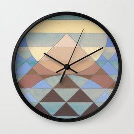 Pyramid Sun Turquoise Wall Clock