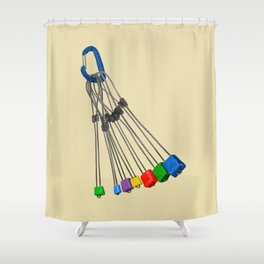 Rock Climbing Wires Shower Curtain