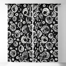 Chalkboard Scribble Circles Blackout Curtain