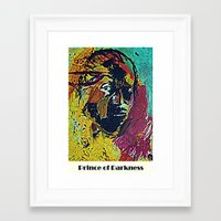 miles davis Framed Art Prints featuring Prince Of Darkness - Miles Davis Portrait by Gafoor