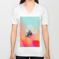 telephone V-neck T-shirts featuring telephone by evenstarss