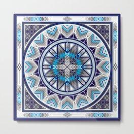 Sacred Places Blue Metal Print