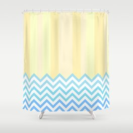 The Beach - Abstract Geometry Shower Curtain