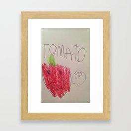 Tomato Speaks Framed Art Print