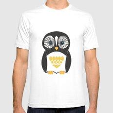 Penguin  White Mens Fitted Tee MEDIUM