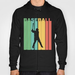 Retro Style Baseball Player Hoody