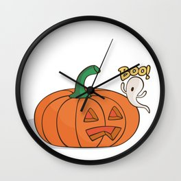 Scared Pumpkin Wall Clock