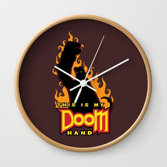 This is My Doom Hand Wall Clock