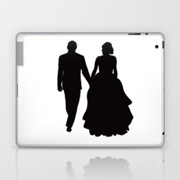 Wedding Couple Silhouette Design For Weddings Laptop & iPad Skin