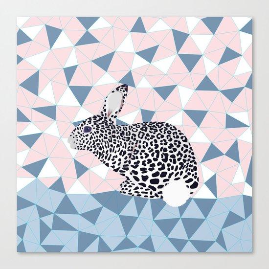 Cute Rabbit Leopard Pattern Design Canvas Print