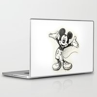 mickey Laptop & iPad Skins featuring Mickey Mouse by Herself