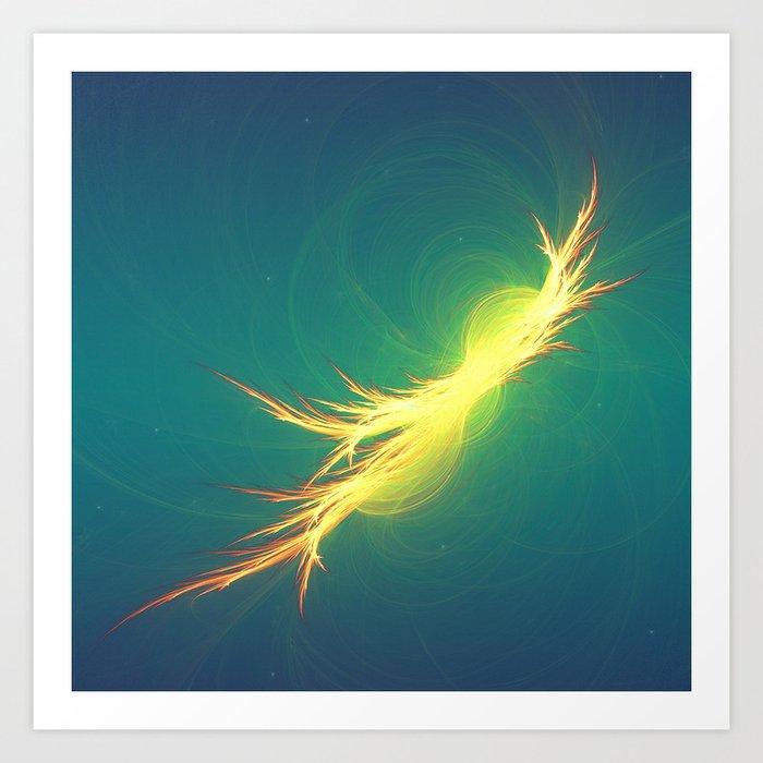 Fractal Phoenix Rising Art Print