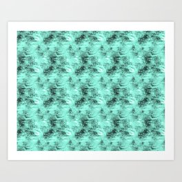 Patched Teal Waters Art Print