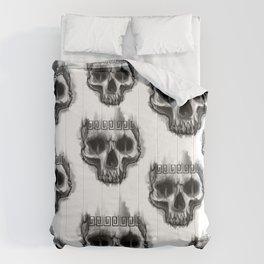 Aztec skull Comforters