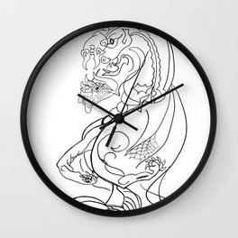 Snake with paws Wall Clock