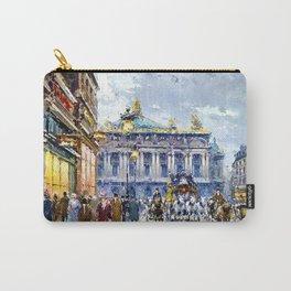 Avenue de l'Opera, Paris, France Landscape by Antone Blanchard Carry-All Pouch