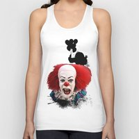 pennywise Tank Tops featuring Pennywise the Clown: Monster Madness Series by SB Art Productions