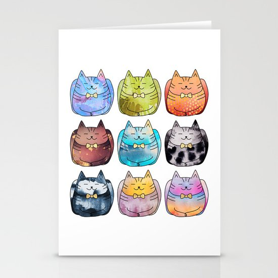 Colorful Cats Stationery Cards
