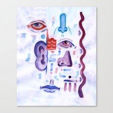 Face Scramble Canvas Print